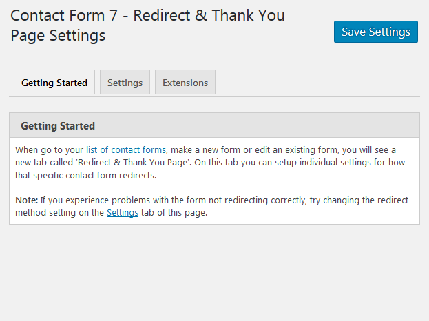 Contact Form 7 Redirect & Thank You Page