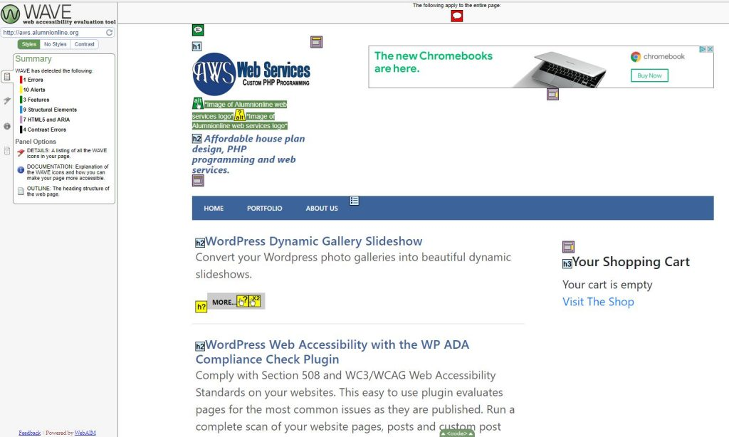 WP ADA Compliance Check Basic – The Best Web Accessibility Solution for WordPress   AlumniOnline Web Services LLC   accessability